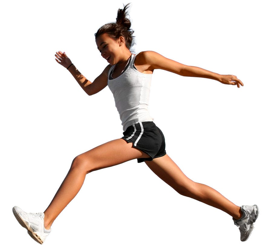 Healthy energetic girl running
